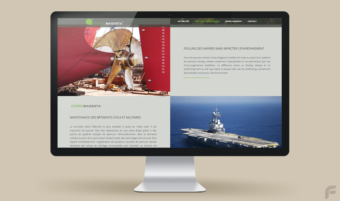Frametonic Digital - Web Design - Création de sites internet pour l'aéronautique - Corso Magenta